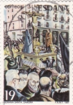 Stamps Spain -  Semana Santa - Zamora   (3