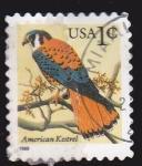 Sellos de America - Estados Unidos -  Ave- American Kestrel