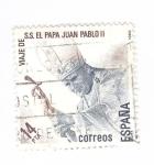 Sellos del Mundo : Europa : España : Viaje de SS El Papa Juan Pablo II