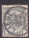 Sellos de Europa - Bélgica -  Escudo y cifra