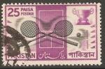 Sellos de Asia - Pakistán -  RAQUETAS   Y   COPA