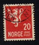 Sellos del Mundo : Europa : Noruega : Leon Rampante: Correo Postal