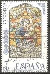 Stamps Spain -  VIRGEN  CON  EL  NIÑO.  VIDRIERA  CATEDRAL  DE  SEVILLA