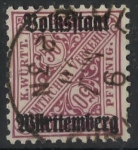Stamps Germany -  WURTTEMBERG SCOTT_O161