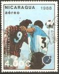 Stamps Nicaragua -  CAMPEONATO   EUROPEO   DE    FOOTBALL.   ALEMANIA