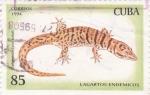 Stamps Cuba -  Lagartos endémicos