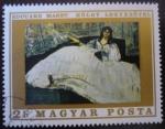 Sellos de Europa - Hungría -  Edouard Manet: Dama con abanico
