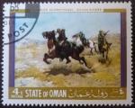 Sellos del Mundo : Asia : Omán : Charles Schreyvogel: Rough riders