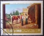 Sellos del Mundo : Europa : Omán : W. S. Mount: La negociación de un caballo