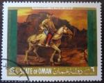 Sellos del Mundo : Asia : Omán : Rembrandt: El jinete polaco