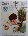 Sellos del Mundo : America : Cuba :  Lactancia materna. Salud del niño