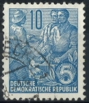 Stamps : Europe : Germany :  DDR SCOTT_227.02 TRABAJADOR, CAMPESINO E INTELECTUAL