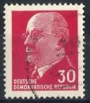 Sellos de Europa - Alemania -  DDR SCOTT_587 PRESIDENTE WALTER ULBRICHT