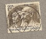 Sellos de Asia - India -  Centenario de Gandhi