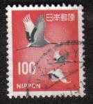 Sellos de Asia - Japón -  Red-crowned Crane    Grus japonensis