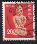 Sellos del Mundo : Asia : Japón : Fauna, Flora y Patrimonio Cultural, Haniwa, escultura de arcilla hueca de un guerrero