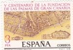 Stamps Spain -  V Centenario de la fundación de Las Palmas de Gran Canaria   (4)