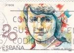 Stamps Spain -  María de Maetzu  (4)