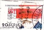 Sellos de Europa - España -  I Centenario UGT-  Pablo Iglesias  (4)