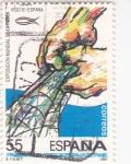 Sellos de Europa - España -  Exposición Mundial de la pesca- Vigo-91   (4)