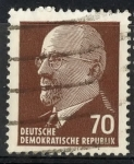 Stamps : Europe : Germany :  DDR SCOTT_590 PRESIDENTE WALTER ULBRICHT