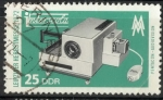 Stamps : Europe : Germany :  DDR SCOTT_1395 PROYECTOR AUDIOVISION PENTACON
