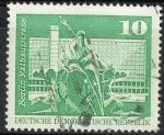 Stamps Germany -  DDR SCOTT_1431.01 FUENTE DE NEPTUNO. CALLE DEL AYUNTAMIENTO BERLIN
