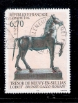 Stamps : Europe : France :  Arqueologia: Bronce galo-romano