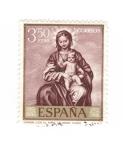 Sellos del Mundo : Europa : España : Virgen con el niño ( Alonso Cano)
