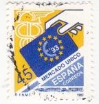 Stamps Spain -  Mercado Unico-93    (4)