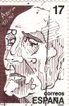 Stamps Spain -  Azorín 1873-1967   (4)