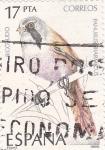 Stamps Spain -  Ave- panurus biarnicus   (4)