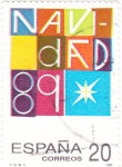 Stamps Spain -  Navidad-89  (4)