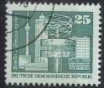Stamps : Europe : Germany :  DDR SCOTT_2075 RELOJ MUNDIAL, PLAZA ALEXANDER