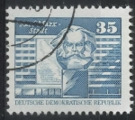 Stamps : Europe : Germany :  DDR SCOTT_2077.01 MONUMENTO A MARXL. ESTADIO KARL MARX