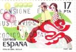 Stamps Spain -  Feria de Abril de Sevilla   (4)