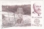 Stamps Spain -  Europa-Cept  Transbordador sobre el Niágara   (4)