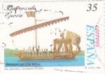 Sellos de Europa - España -  Embarcación real   (4)