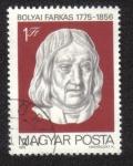 Stamps Hungary -  Bolyai Farkas 1775-1856