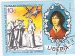 Sellos de Africa - Liberia -  Aristoteles, Ptolemy y Copernicus