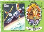 Stamps Liberia -  Saturno/ Apolo