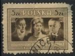 Stamps Poland -  POLONIA SCOTT_399 WOJCIECH BOGUSLAWSKI, HELENA MODJESKA Y STEFAN JARACZ. $0.25