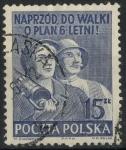 Sellos de Europa - Polonia -  POLONIA SCOTT_477 TRABAJADORES POLACOS