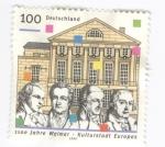 Sellos del Mundo : Europa : Alemania : 1100 años Weimar.Cultura europea