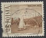 Stamps : Europe : Poland :  POLONIA SCOTT_1442 PUENTE PONIATOWSKI DE VARSOVIA Y BARCO DE VELA. $0.2