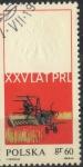 Stamps : Europe : Poland :  POLONIA SCOTT_1667 COSECHADORAS Y ESCUDO DE ARMAS DE POLONIA EN RELIEVE. $0.2