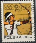 Stamps : Europe : Poland :  POLONIA SCOTT_1879 TIRO CON ARCO Y SIMBOLO OLIMPICO. $0.2