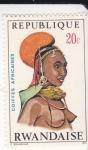 Stamps Rwanda -  Mujer africana