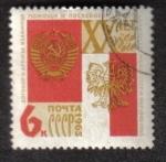 Stamps Russia -  20 º aniversario del Tratado de Amistad soviético-polaca.