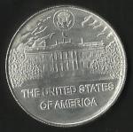 monedas de America - Estados Unidos -  PRESIDENTE  DWIGHT EISENHOWER -  CASA BLANCA